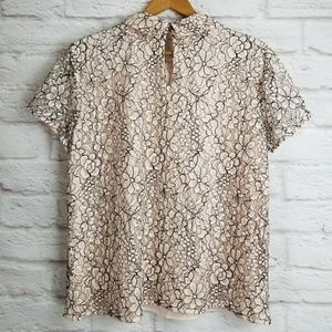 6bb7835f9884 Karl Lagerfeld Tops - Karl Lagerfeld Paris Lace Bow Tie Top Blouse